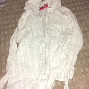 White button up long sleeve
